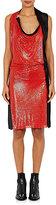 Paco Rabanne Women's Chain-Mail & Satin Dress-RED, BLACK