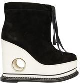 Paloma Barceló Paloma Barcelo` Leather Wedge Hi-top Sneakers