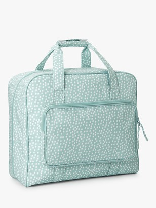 John Lewis & Partners Spot Print Sewing Machine Bag, Duck Egg