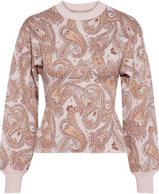 Herve Leger Metallic Jacquard-knit Sweater