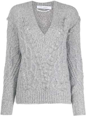 IRO cable-knit studded jumper