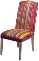 Surya Striped Silk Chair