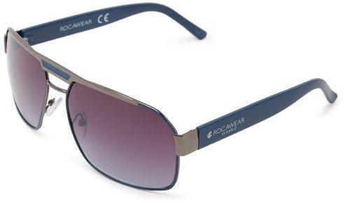 Rocawear R1301 GUNBL Rectangular Sunglasses