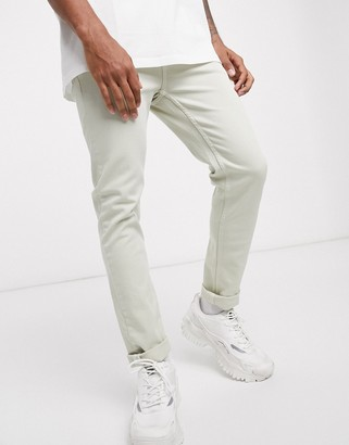 ASOS DESIGN skinny jeans in mint green