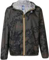 K-Way camouflage contrast zip jacket