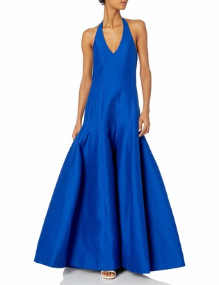 Halston Women's Sleeveless Halter Neck Gown with Tulip Skirt