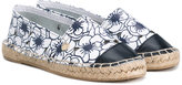 Armani Junior floral print espadrilles - kids - Leather/rubber - 28
