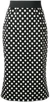 Dolce & Gabbana polka dot skirt - women - Cotton/Spandex/Elastane - 40