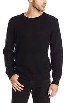 DKNY Men's Long Sleeve Waffle Stitch Merinowool Sweater
