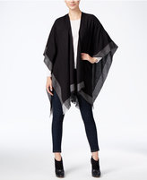 Charter Club Lightweight Border Stripe Poncho, Only at Macy's
