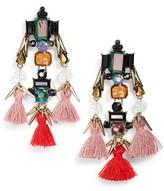 Sole Society Women's Tassel & Crystal Chandelier Earrings