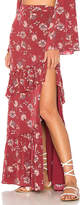 Ale By Alessandra x REVOLVE Laudine Maxi Skirt in Burgundy. - size L (also in M,S,XS)