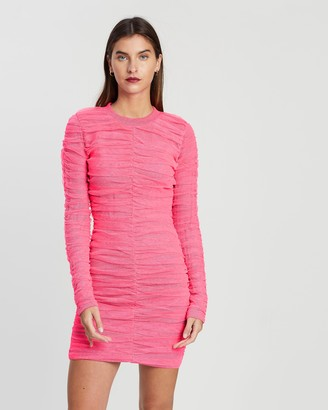 House of Holland Bright Gathered Tulle Mini Dress
