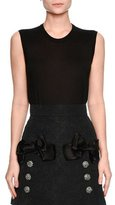 Dolce & Gabbana Sleeveless Cashmere/Silk Shell, Black