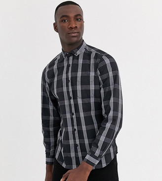 Jacamo check shirt in black
