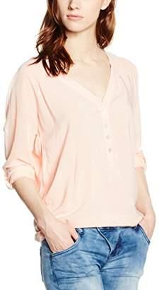 Sublevel Women's D7187U10453A4 Blouse, (Pastel Orange 11100), (Size: M)