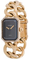 rectangular face chain L watch