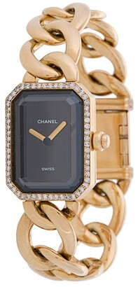 Chanel Pre Owned rectangular face chain L watch