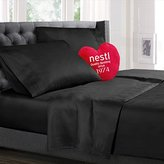 Nestl Bedding Queen Bed Sheet Bedding Set with Deep Pocket Fitted Sheet - Black