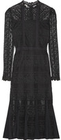 Temperley London Desdemona Paneled Guipure Lace Midi Dress - Black
