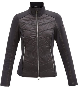 Toni Sailer Aina Quilted-panel Technical Mid-layer Jacket - Black