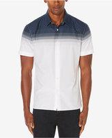 Perry Ellis Men's Big & Tall Dot Print Two-Tone Shirt, A Macy's Exclusive Style