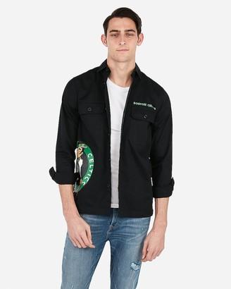 Express Boston Celtics Nba Twill Shirt Jacket