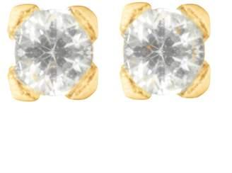 Lily Flo Jewellery Diamond Stud Earrings: 4Mm 0.26Ct Brilliant Cut Diamonds Square Set On Solid Gold