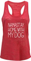 Tough Cookie Clothing Tough Cookie's Women's Yoga Burnout Namastay At Home With My Dog Tank Top