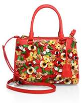 Prada Garden Saffiano Leather Satchel