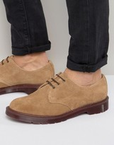 Dr. Martens Made In England 1461 Shoes In Bege Suede
