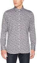 Otto Kern Men's Langarm-Hemd, Slim Fit, Freizeit, Business, Modern, Super Qualität, All-Over Muster, Print, 91701 / 45407 Casual Shirt,L