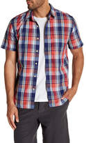 Lucky Brand Short Sleeve Ballona Slim Fit Shirt