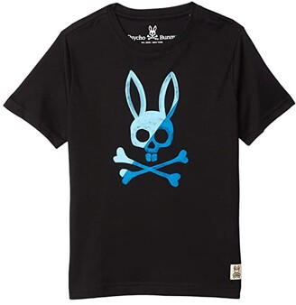 Psycho Bunny Kids Andover Graphic Tee (Toddler/Little Kids/Big Kids) (Black) Boy's Clothing