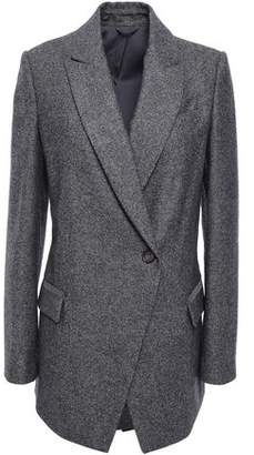 Brunello Cucinelli Double-breasted Bead-embellished Wool Blazer