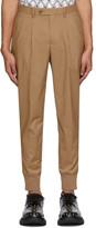 Neil Barrett Beige Double Pocket Pleated Trousers