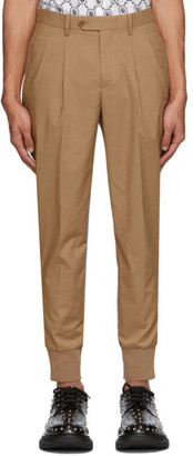 Neil Barrett Beige Double Pocket Pleated Trousers