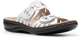 Clarks Collection Leather Slip-On Sandals - Leisa Charm