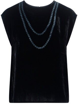 MM6 MAISON MARGIELA Chain Print Round Neck T-Shirt