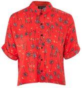Topshop Short sleeve giraffe shirt