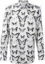 Alexander McQueen Victorian moth print shirt