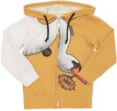 Madson Discount Swan Printed Cotton Piqué Sweatshirt