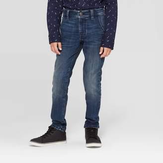 Cat & Jack Boys' Winter Brushed Back Skinny Fit Jeans - Cat & JackTM Medium Wash