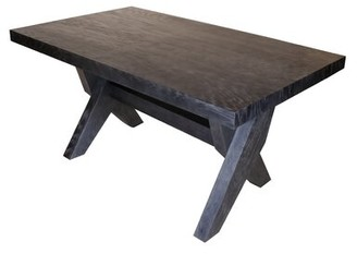 Lofland Solid Wood Dining Table Gracie Oaks Color: Blue