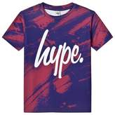 Hype Red Brush Branded T-Shirt