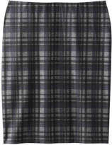 Joe Fresh Women's Plaid Pencil Skirt, Blue (Size L)