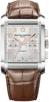 Baume & Mercier Men's Swiss Automatic Chronograph Hampton Brown Alligator Leather Strap Watch 34x48mm M0A10029