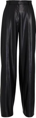 Nanushka Cleo Vegan Leather Wide-Leg Pants