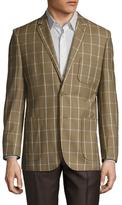 English Laundry Checkered Print Notch Lapel Sportcoat