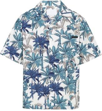 Prada Palm Tree Print Bowling Shirt